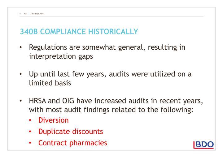 340B compliance historically
