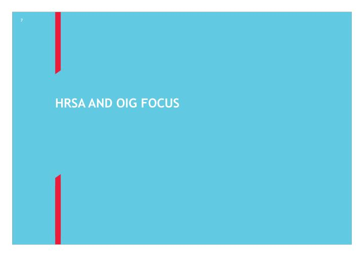 HRSA and OIG Focus