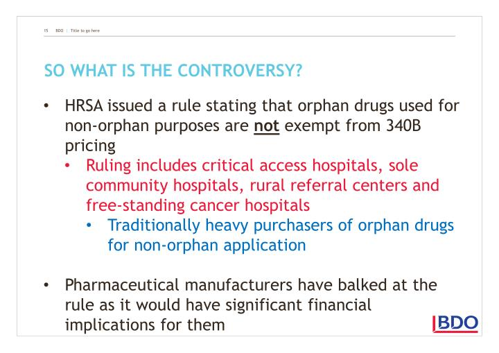 So what is the controversy?