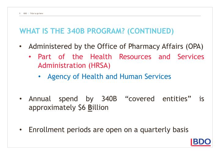 What is the 340B program