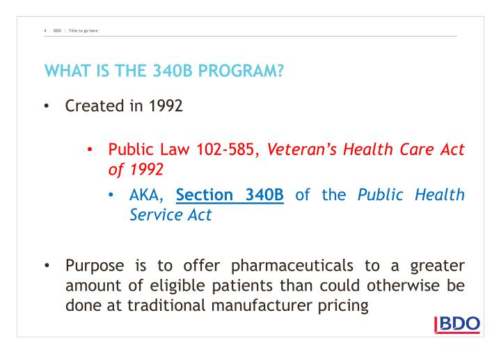 What is the 340B program?