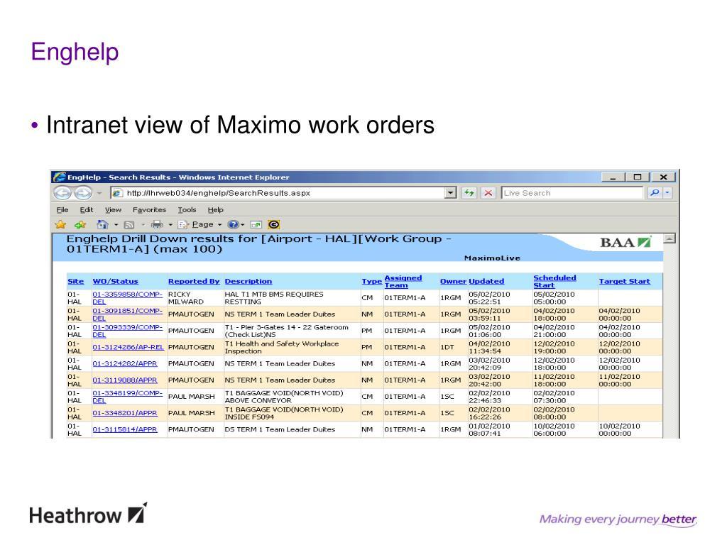PPT - Maximo at BAA PowerPoint Presentation - ID:5261639