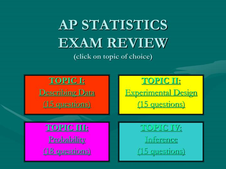 ap statistics exam review click on topic of choice n.