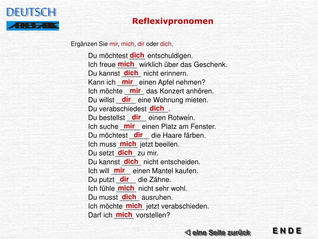 Mich dich ich The German