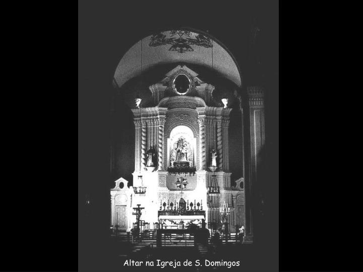 Altar na Igreja de S. Domingos