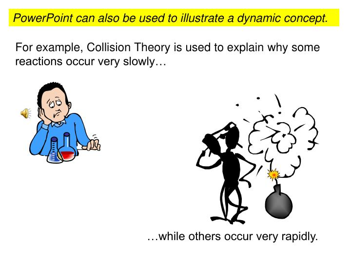 PowerPoint can also be used to illustrate a dynamic concept.