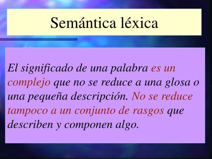 Semántica léxica