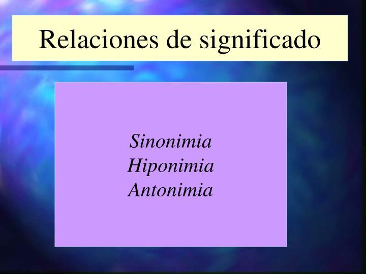 Relaciones de significado