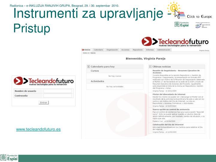 Instrumenti za upravljanje