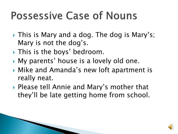 Possessive case of nouns