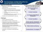 the cost analysis and rate setting effort has several objectives and challenges
