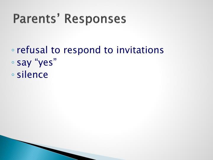 Parents' Responses