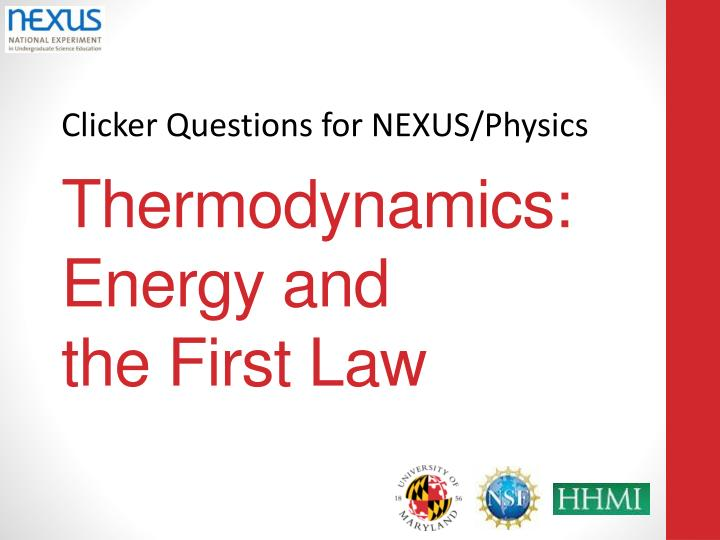 Thermodynamics energy and the first law