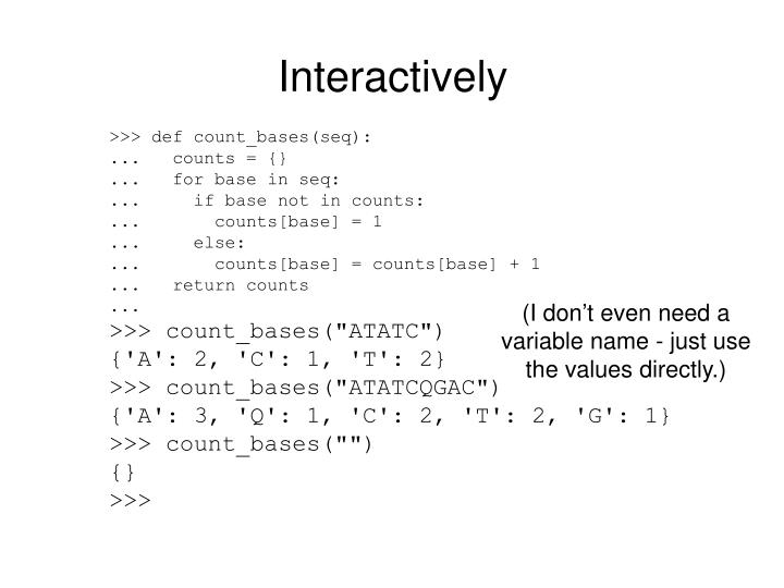 Interactively