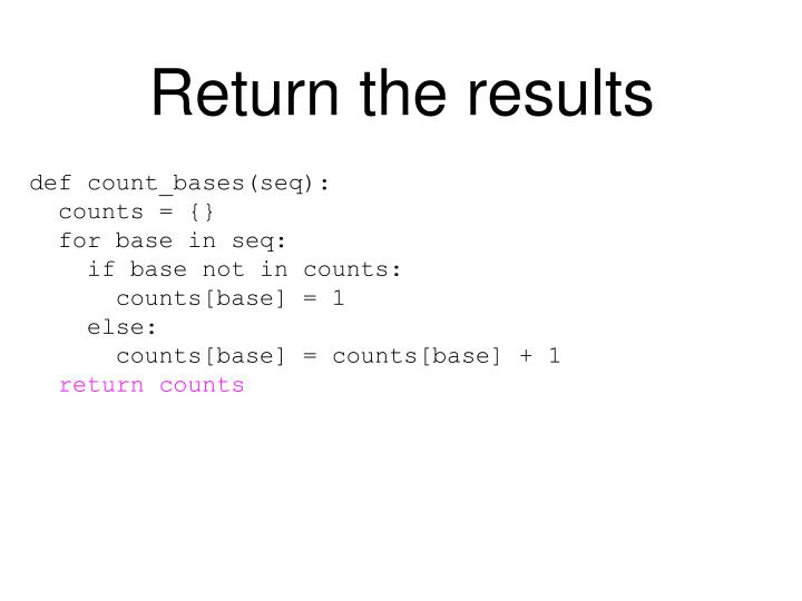 Return the results