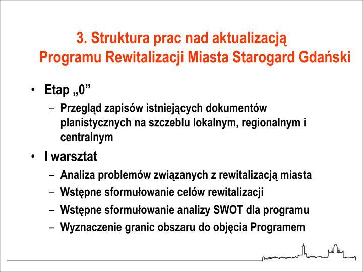 3. Struktura prac nad aktualizacją