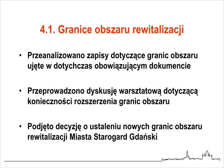 4.1. Granice obszaru rewitalizacji