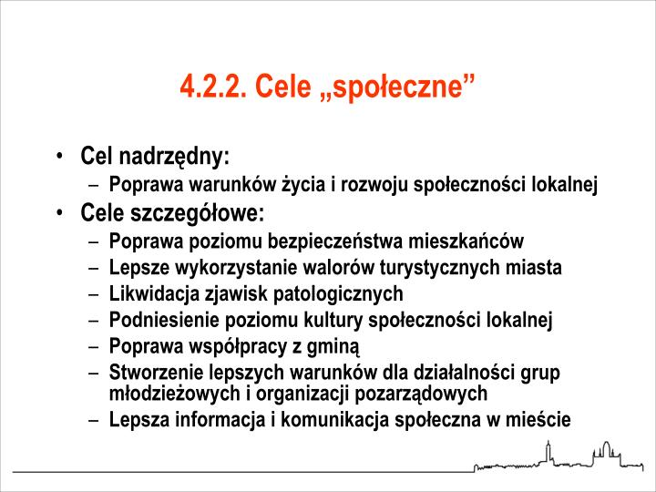 """4.2.2. Cele """"społeczne"""""""