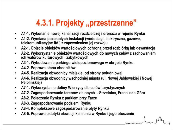 """4.3.1. Projekty """"przestrzenne"""""""