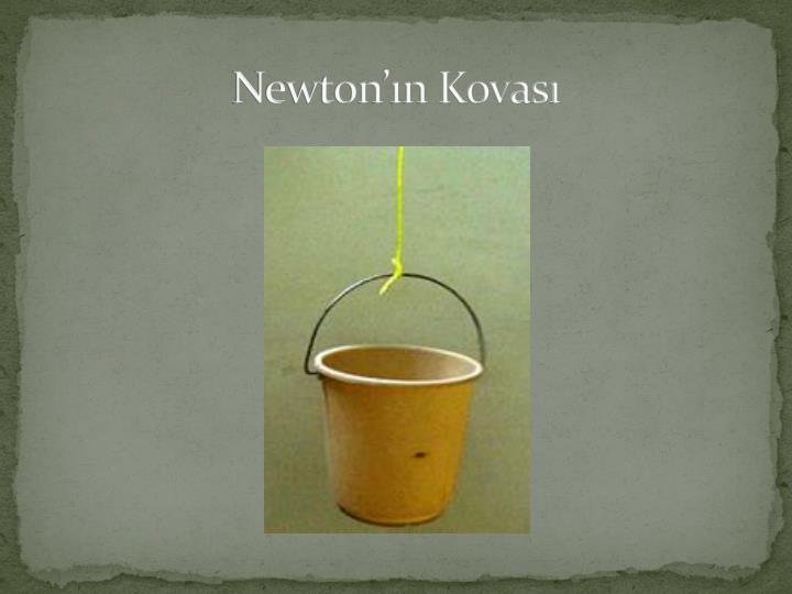 Newton'ın Kovası