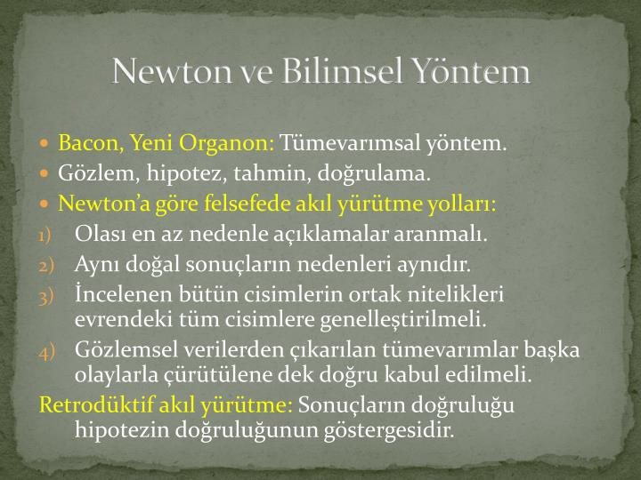 Newton ve bilimsel y ntem1