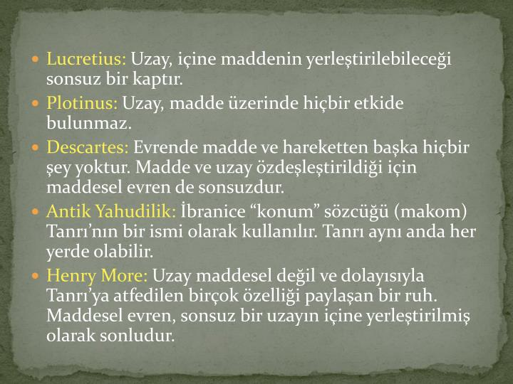 Lucretius: