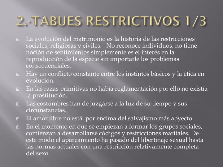 2.-TABUES RESTRICTIVOS 1/3