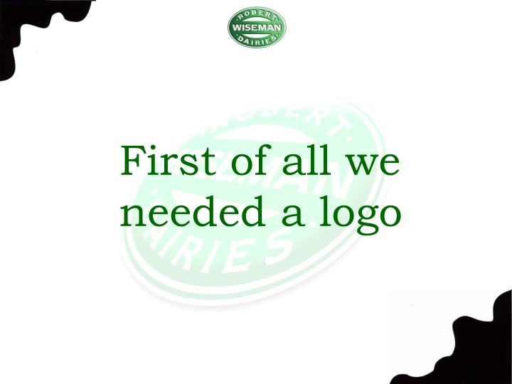 First of all we needed a logo