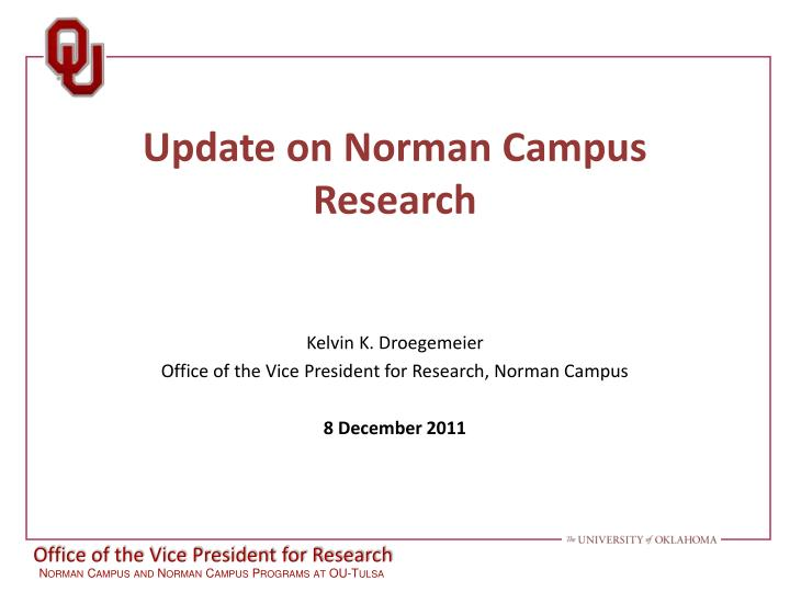 update on norman campus research n.