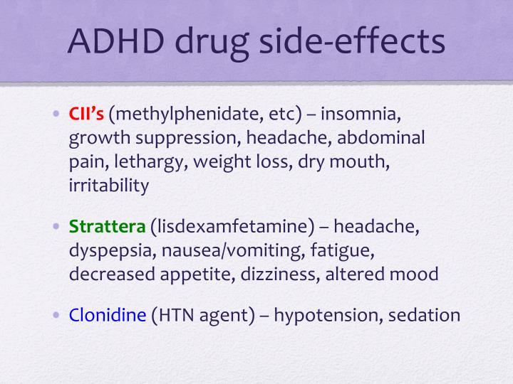 ADHD drug side-effects