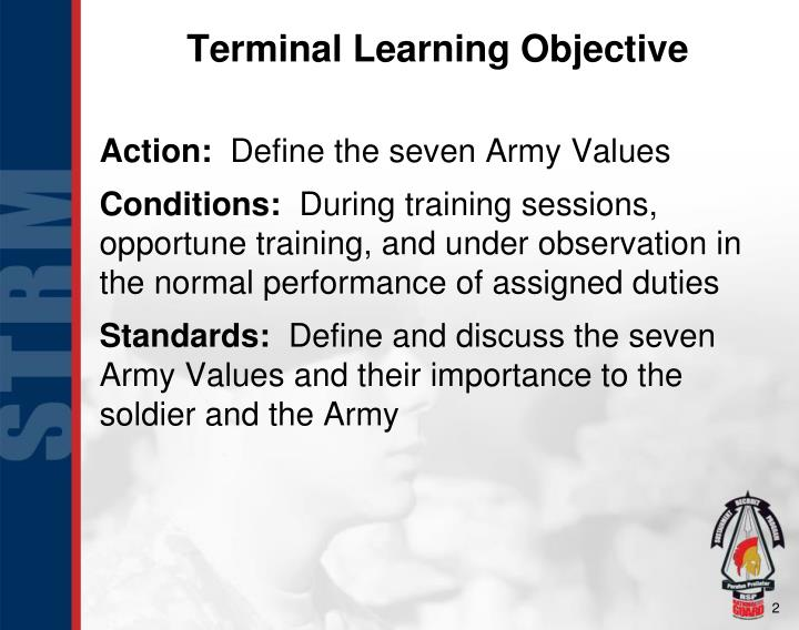 what are the seven army values