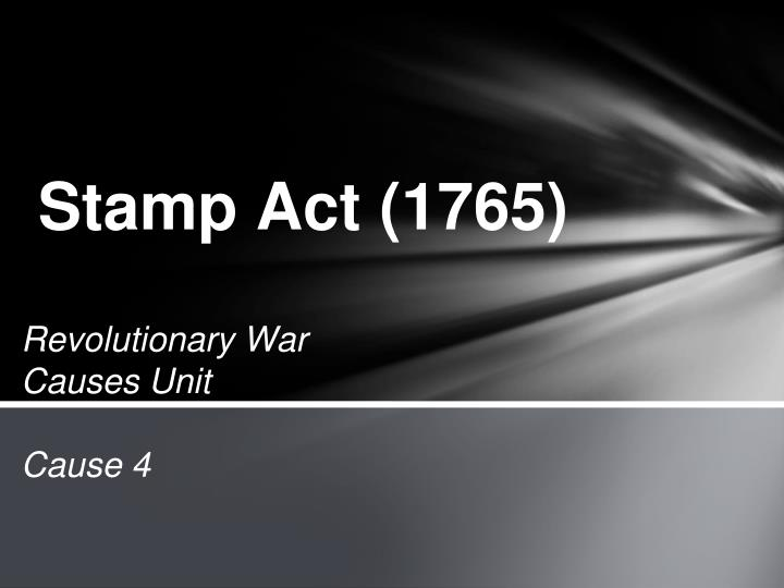 stamp act 1765 n.