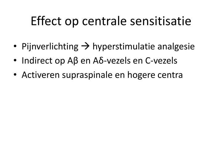 Effect op centrale