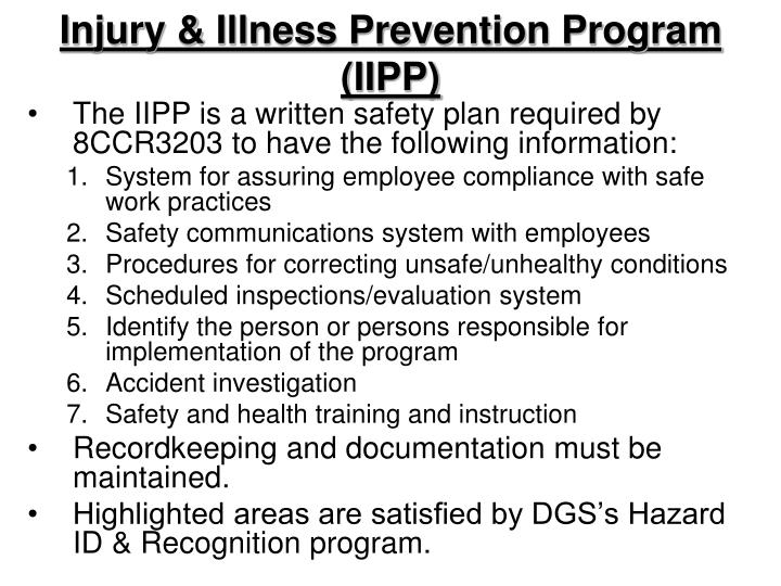 PPT - Department of General Services Safety Hazard Identification ...