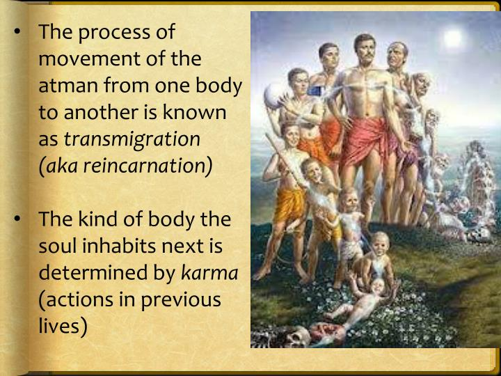 The process of movement of the atman from one body to another is known as