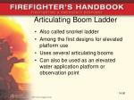 articulating boom ladder