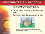 ground considerations