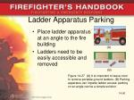 ladder apparatus parking
