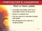 roof or hook ladder