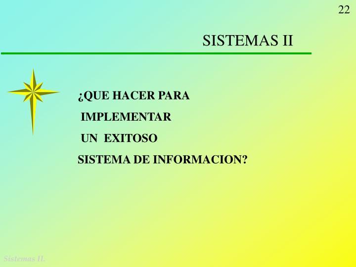 SISTEMAS II