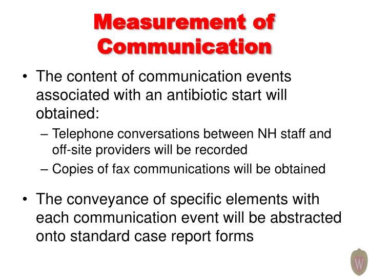 Measurement of Communication