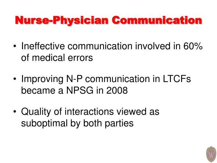 Nurse-Physician Communication