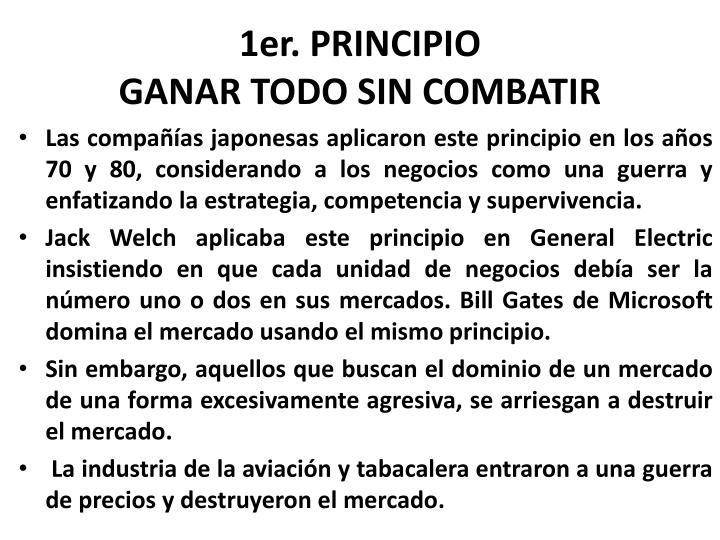 1er. PRINCIPIO