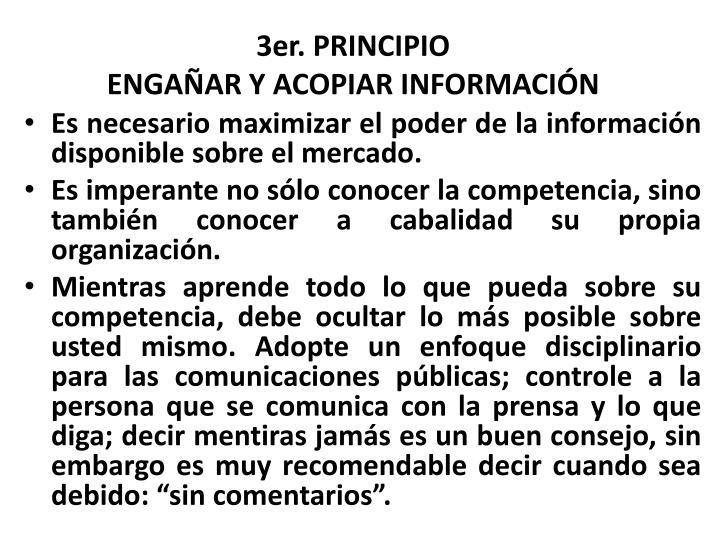 3er. PRINCIPIO