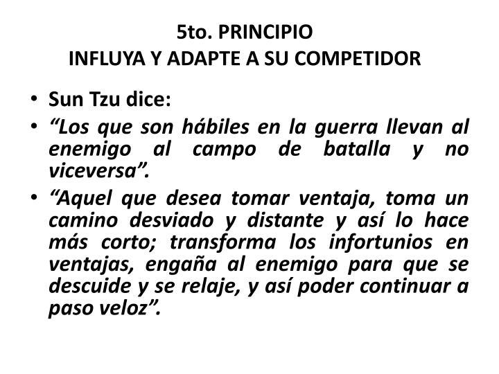 5to. PRINCIPIO
