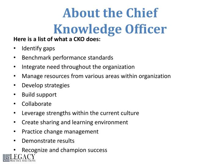 About the Chief