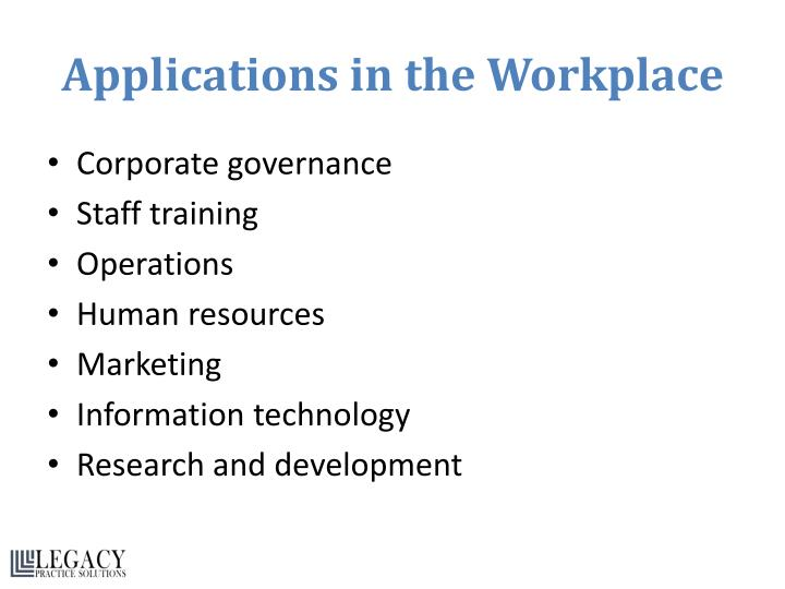 Applications in the Workplace