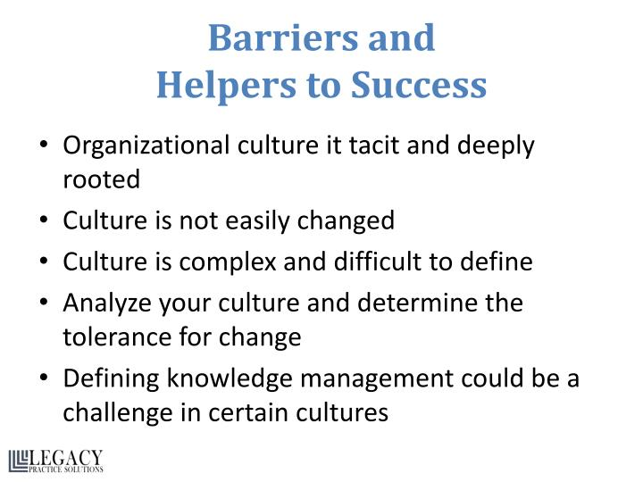 Barriers and