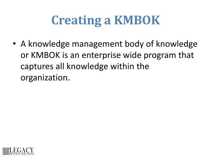 Creating a KMBOK