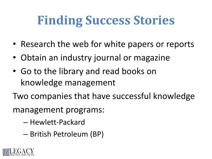 Finding Success Stories